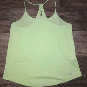 Green Under Armour racerback tank size XL